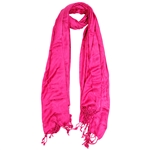 Hot Pink Jacquard Style Women's Hijab Scarf
