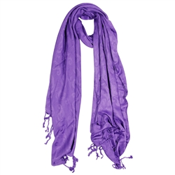 Lavender Jacquard Style Women's Hijab Scarf