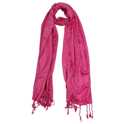 Pink Jacquard Style Rectangle Women's Hijab Scarf
