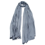 Plain Cool Gray Lightweight Womens Hijab Scarf
