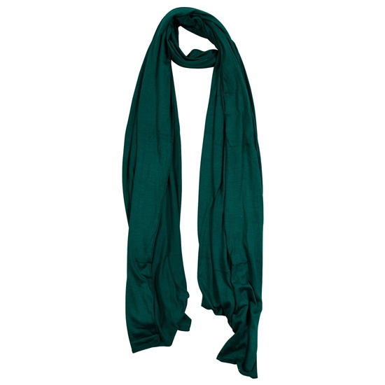 Plain Forest Green Lightweight Womens Hijab Scarf