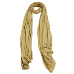 Plain Camel Brown Lightweight Womens Hijab Scarf