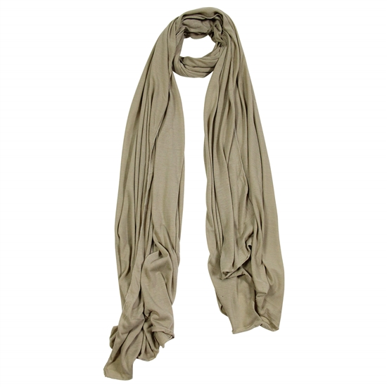 Plain Light Brown Lightweight Womens Hijab Scarf