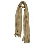Plain Tan Brown Soft Lightweight Women Hijab Scarf