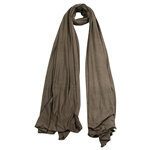 Plain Tawny Brown Lightweight Womens Scarf Hijab
