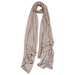 Plain Pale Brown Lightweight Womens Hijab Scarf