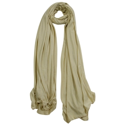 Plain Beige Brown Lightweight Womens Scarf Hijab
