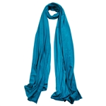 Plain Cerulean Blue Lightweight Womens Scarf Hijab