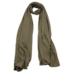 Plain Olive Color Lightweight Womens Scarf Hijab