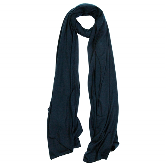 Plain Black Soft Lightweight Womens Scarf Hijab