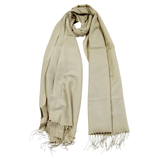 Plain Beige Brown Lightweight Women Hijab Scarf