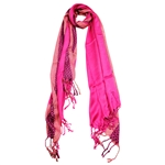 Pashmina Blend Pink and Gold Women's Hijab Scarf