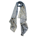 Cool Gray Lightweight Rectangle Women Hijab Scarf