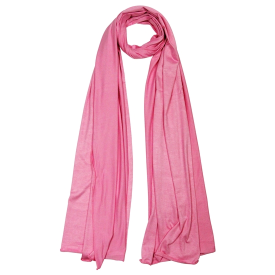 Plain Pink Rose Lightweight Women's Jersey Hijab