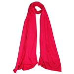Plain Ruby Red Lightweight Women's Jersey Hijab