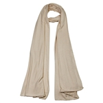 Plain Tan Brown Lightweight Women's Jersey Hijab