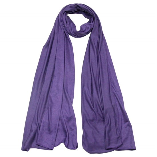 Plain Plum Purple Lightweight Women's Jersey Hijab