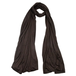 Plain Dark Brown Lightweight Women's Jersey Hijab