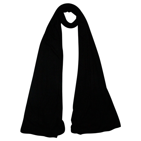 Plain Black Soft Lightweight Women's Jersey Hijab