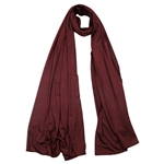 Plain Burgundy Lightweight Women's Jersey Hijab