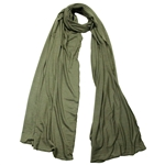 Plain Green Soft Lightweight Women's Jersey Hijab