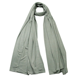 Plain Light Gray Lightweight Women's Jersey Hijab