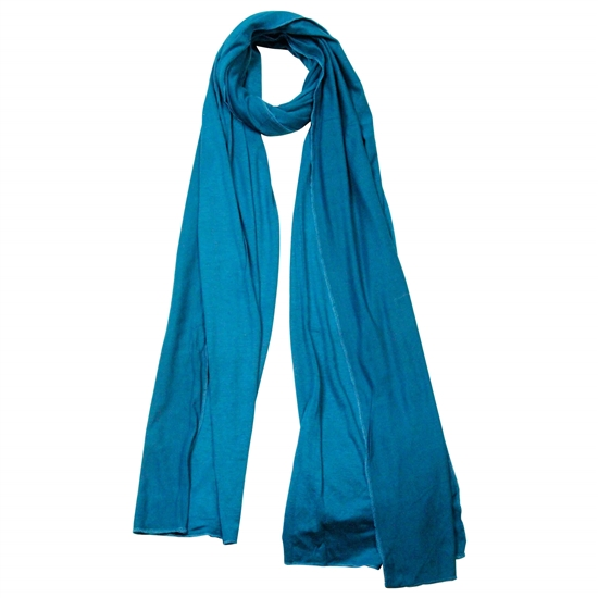 Plain Blue Soft Lightweight Women's Jersey Hijab
