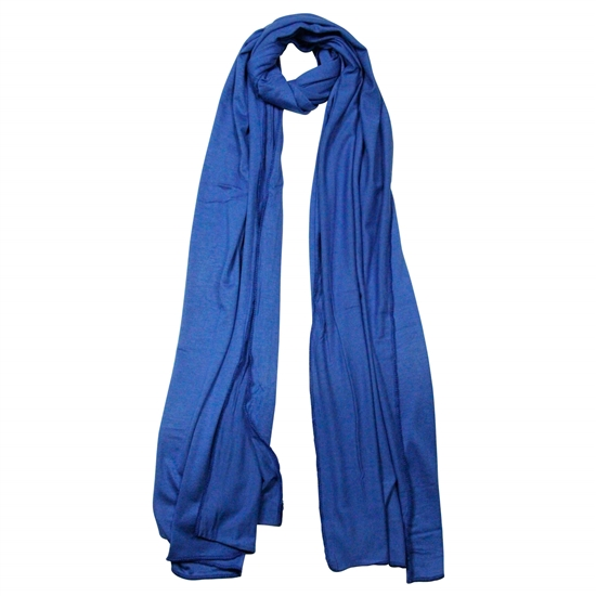 Plain Royal Blue Lightweight Women's Jersey Hijab