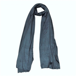 Denim Blue Super Soft Stretch Rectangle Women's Scarf Jersey Hijab