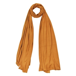 Golden Brown Super Soft Stretch Rectangle Women's Scarf Jersey Hijab