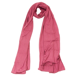 Pink Super Stretch Rectangle Women's Scarf Jersey Hijab