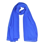 Royal Blue Lightweight Soft Sheer Chiffon Scarf Long Womens Head Wrap Shawl