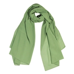 Savannah Green Lightweight Soft Sheer Chiffon Scarf Long Womens Head Wrap Shawl