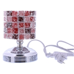 Electric Incense Oil Burner with Tri Color Led in Silver finish