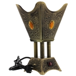 Square Electric Bakhoor Burner with Floral Design