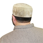 Men's Islamic Muslim Knitted Kufi Prayer Cap Cream Color