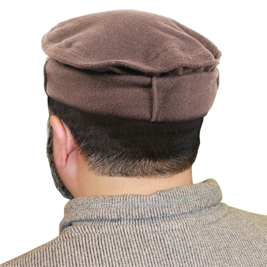 Afghan Rollup Mens Cap Hat with Polyester Inner Lining