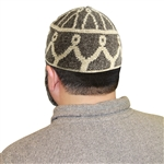 Warm Gray Muslim Mens Prayer Kufi Hat