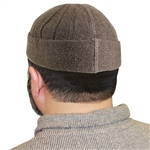 Brown Muslim Mens Prayer Kufi Hat Beanie