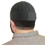 Dark Gray Muslim Mens Prayer Kufi Hat Beanie