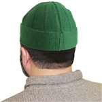 Green Muslim Mens Prayer Kufi Hat Beanie