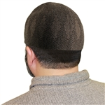 Brown Muslim Mens Prayer Kufi Hat