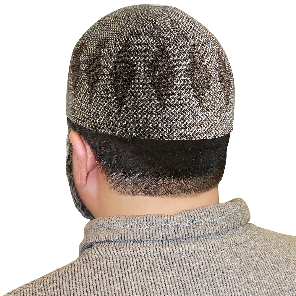 Light Brown Muslim Mens Prayer Kufi Hat Kh405 Muslim American