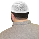 Cotton White Knit Muslim Mens Prayer Kufi Hat