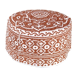White Embroidery Omani Style Tall Hard Kufi Hat