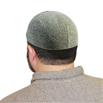 Gray One Size Fits Most Knit Cotton Skull Cap Kufi Prayer Hat