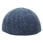 Navy Blue Wool One Size Fits All Winter Kufi Skull Cap Hat