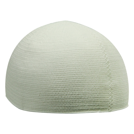 White Extra Large One Size Fits Everyone Kufi Skull Cap Beanie Knit Hat