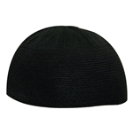 Black Extra Large One Size Fits Everyone Kufi Skull Cap Beanie Knit Hat
