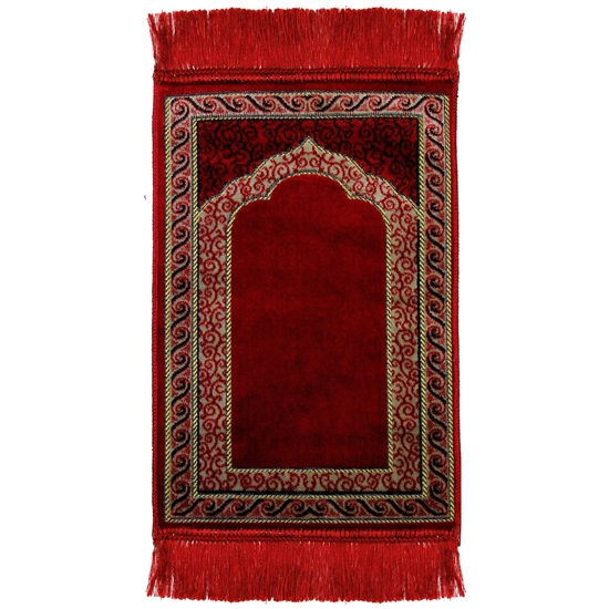Kids Simple Red Archway and Vine Border Tassles